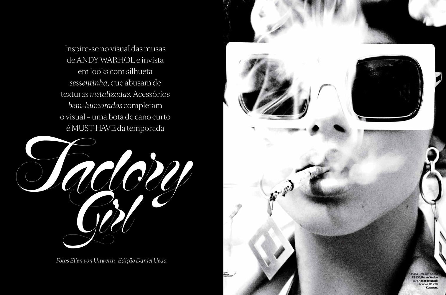 6c86d9d382205 Fashion photographer Ellen von Unwerth at 2b Management captures cover  story of Vogue Brazil s September 2014 issue starring supermodel Adriana  Lima.