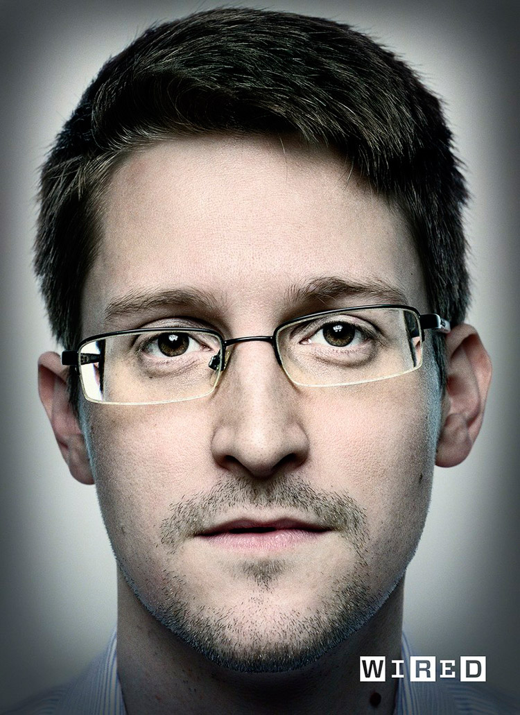 Edward Snowden by Platon for Wired Magazine