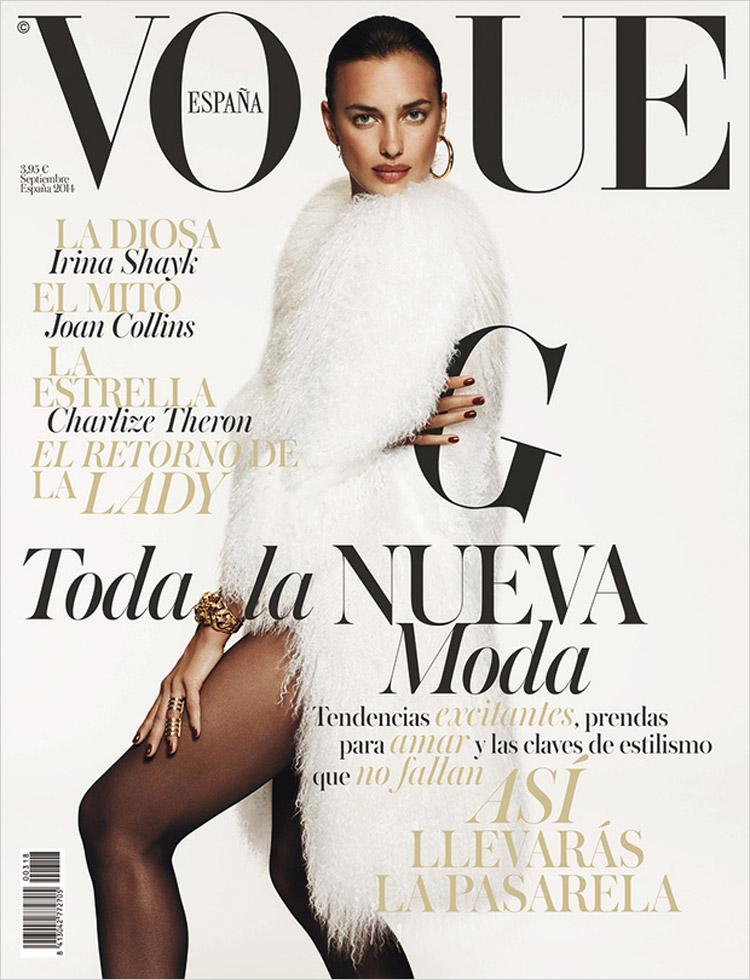 Irina Shayk for Vogue Spain September 2014
