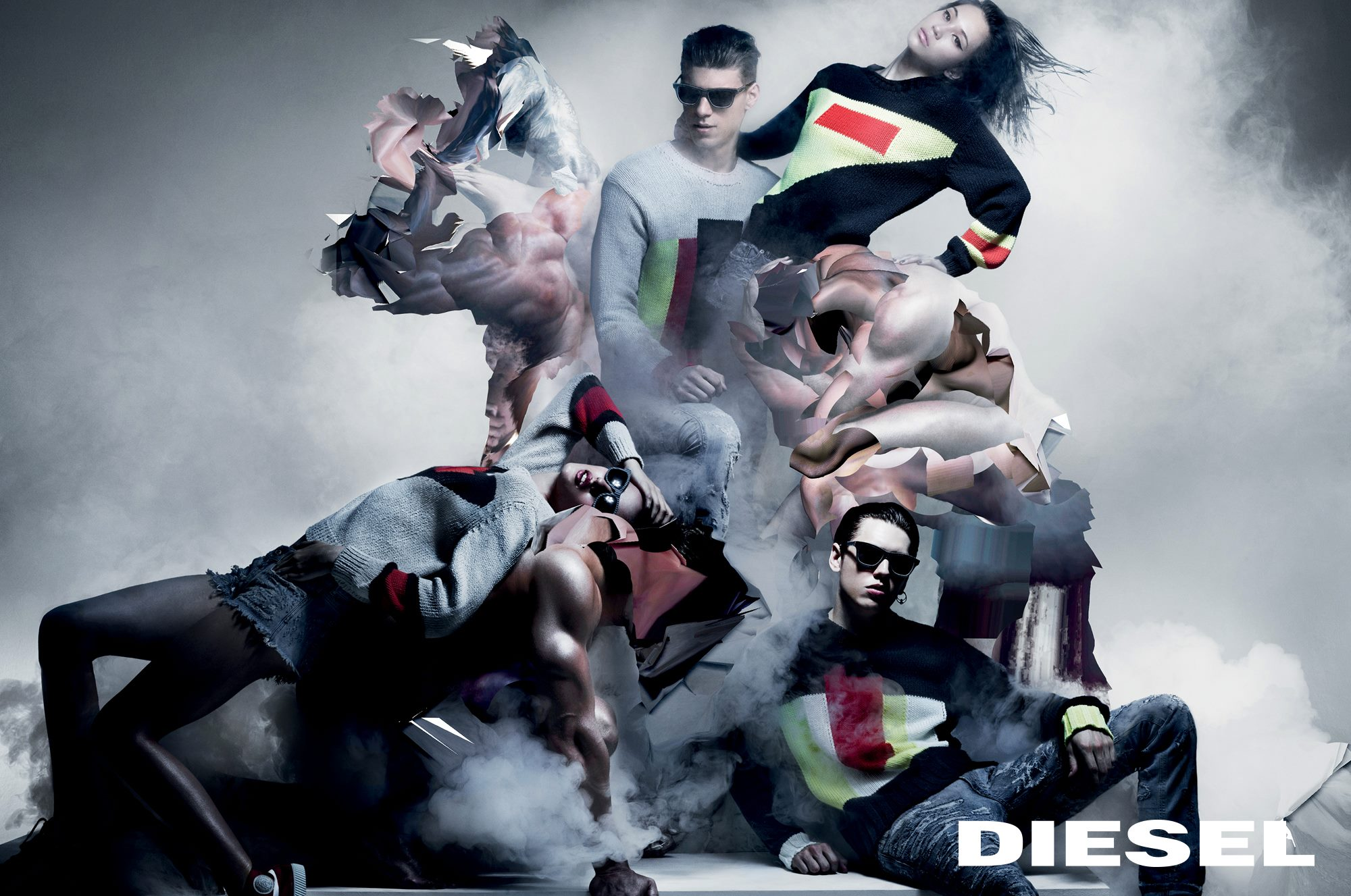 nick knight and nicola formichetti work on diesel fall campaign
