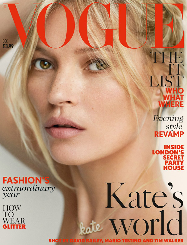 takes over Vogue UK 's December 2014 issue captured for the cover ...