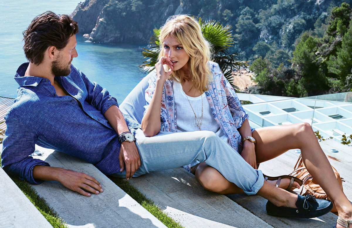 Anja Rubik & Sasha Knezevic for Massimo Dutti Spring Getaway