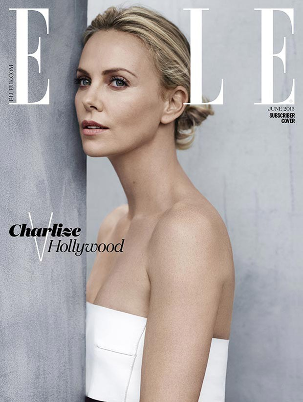 Charlize Theron Covers Elle UK June 2015 Charlize Theron
