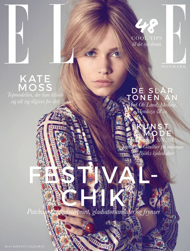 Kirstin Kragh Liljegren Covers Elle Danmark June 2015