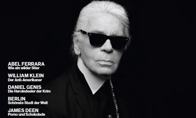 karl lagerfeld covers numero homme germany