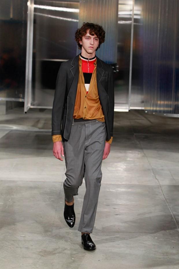 a6fffd75db69 The famed Italian designer Miuccia Prada has presented her vision of  menswear for Spring Summer ...