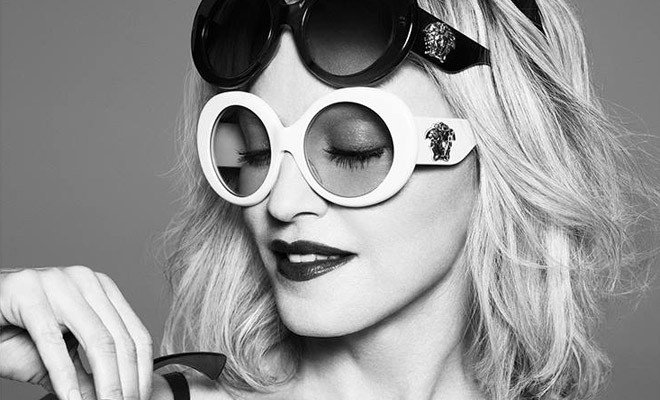 7b830425f1e8 Madonna for Versace Eyewear by Mert  Marcus