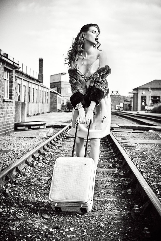Hop On A Train With Ellen Von Unwerth For Vogue Italia