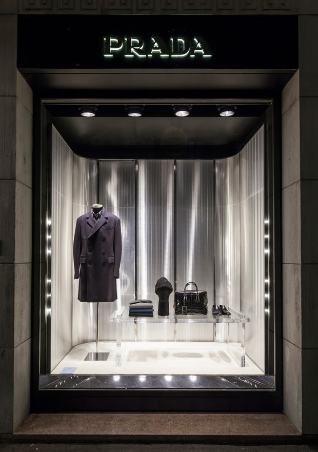 Window shopping prada trasparenze for holiday 2015 design scene fashion photography - Home prada design ...