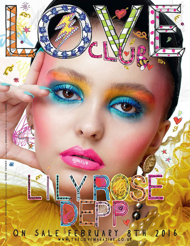 Lily rose depp covers love magazine 16 for Lily rose designer