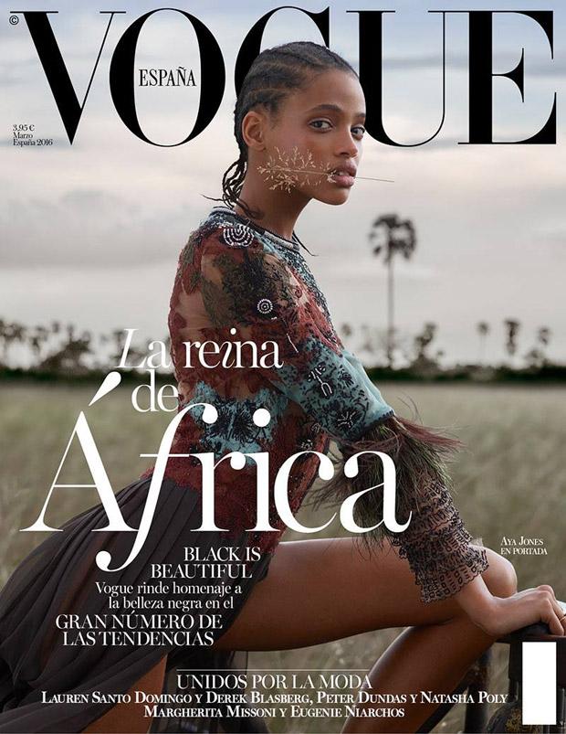 Aya Jones Covers Vogue Spain March 2016