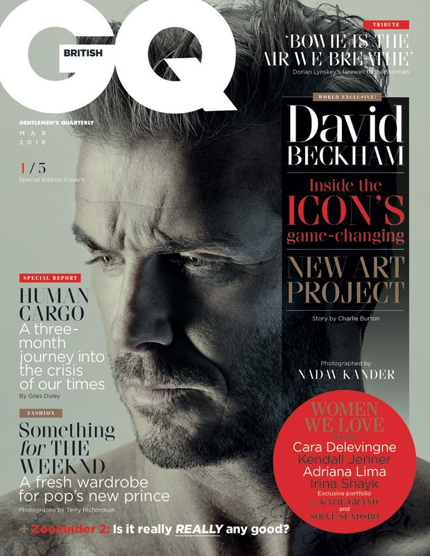 237042dafb1 David Beckham Covers British GQ March 2016