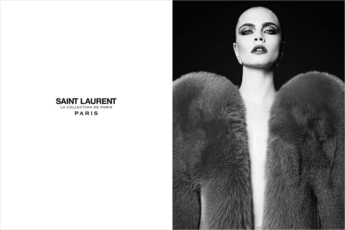 Cara Delevingne Yves Saint Laurent Automne Hiver