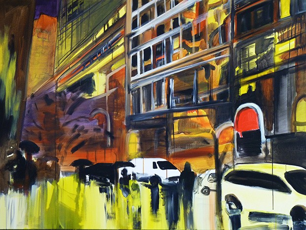 Justyna-Pennards-Sycz,-Urban-solitude,-akryl-na-płótnie,-120-x-160-cm,-2015