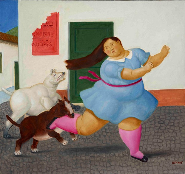 04_Girl_Bitten_by_Dog_Botero_Kunsthal