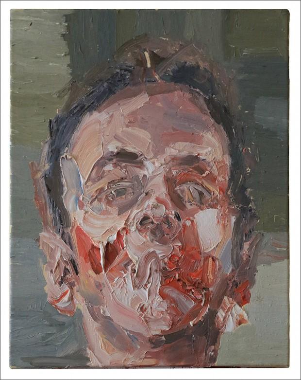 19.Antony-Micallef-安東尼·麥克勒夫b.-1975-Self-Portrait-3自畫像-三,-2014-Oil-on-canvas-布面油畫30-x-25.5-cm;-11-3_4-x-10-in.