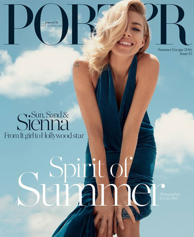 sienna miller covers porter magazine summer escape 2016. Black Bedroom Furniture Sets. Home Design Ideas