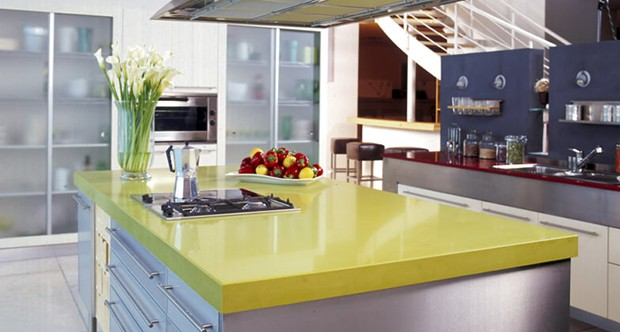 Green Kicthen Countertops