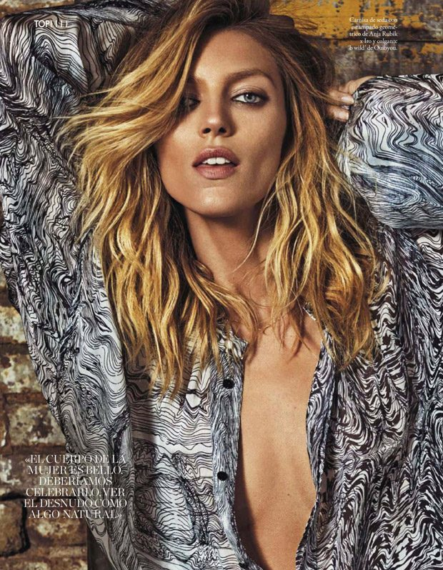 Anja rubik for elle spain by xavi gordo for Rubik espana