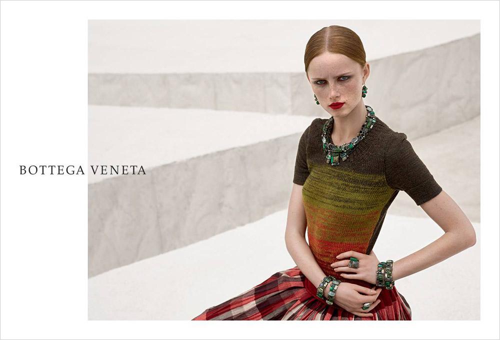 Rianne Van Rompaey For Bottega Veneta Fall Winter 2016 17