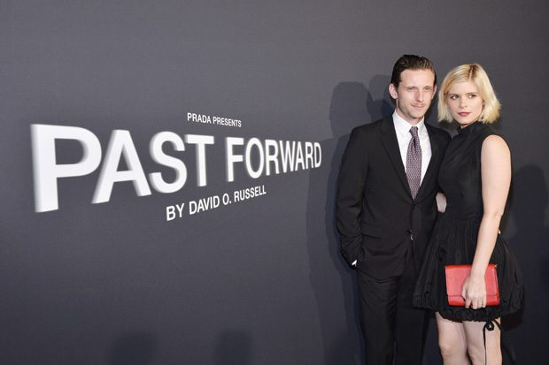 LOS ANGELES, CA - NOVEMBER 15: Actors Jamie Bell (L) and Kate Mara attend the premiere of 'Past Forward', a movie by David O. Russell presented by Prada on November 15, 2016 at Hauser Wirth Schimmel Gallery in Los Angeles, California. (Photo by Stefanie Keenan/Getty Images for PRADA) *** Local Caption *** Jamie Bell, Kate Mara
