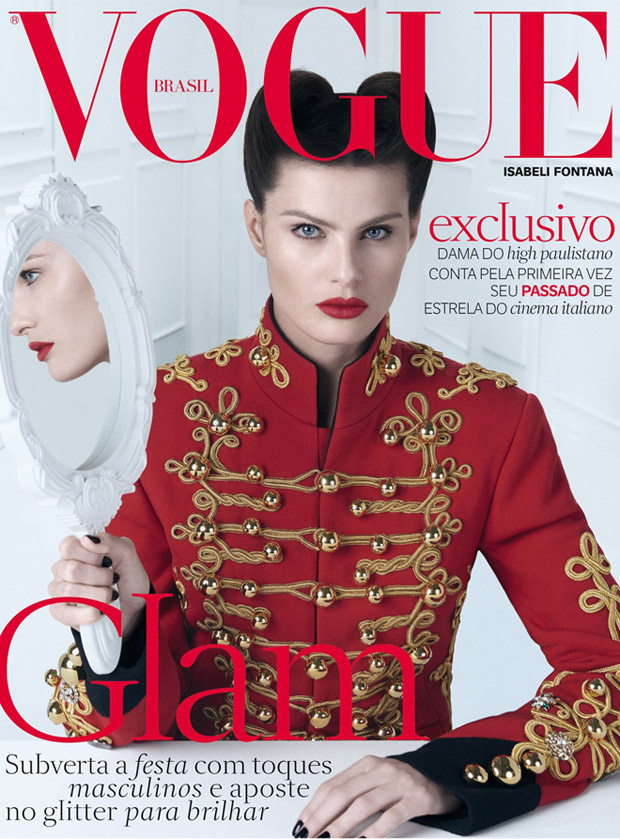 Isabeli Fontana Stuns In Dolce & Gabbana For Vogue Brazil