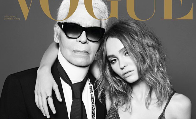 3d003a76a2a Karl Lagerfeld   Lily-Rose Depp Cover Vogue Paris Holiday 2016 Issue
