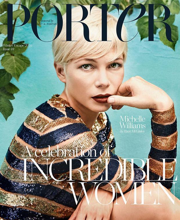 michelle williams covers porter magazine winter escape
