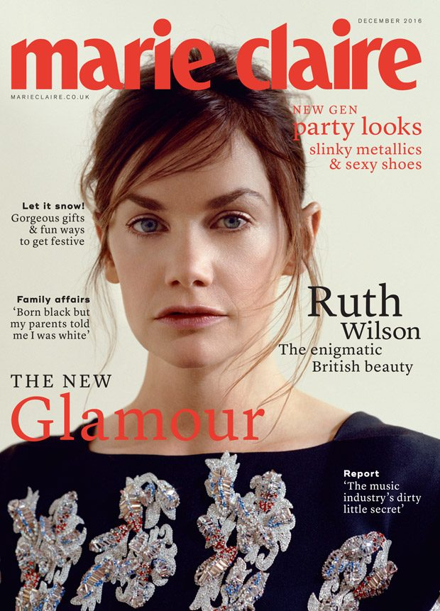 0e0e8828310 Marie Claire UK December 2016 Cover Story Starring Ruth Wilson