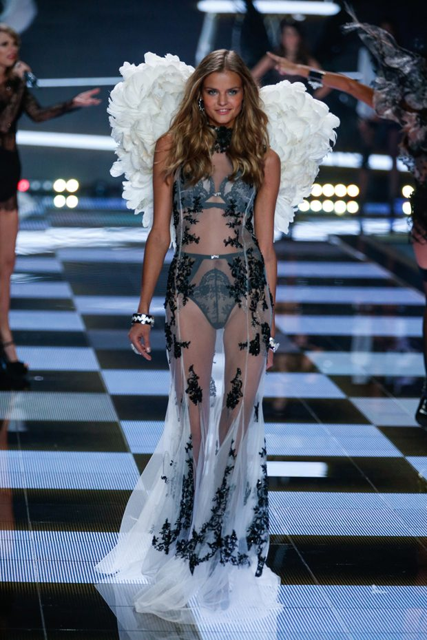 Kate Grigorieva walks the runway at the 19th annual Victoria's Secret Fashion Show in London on December 2nd, 2014