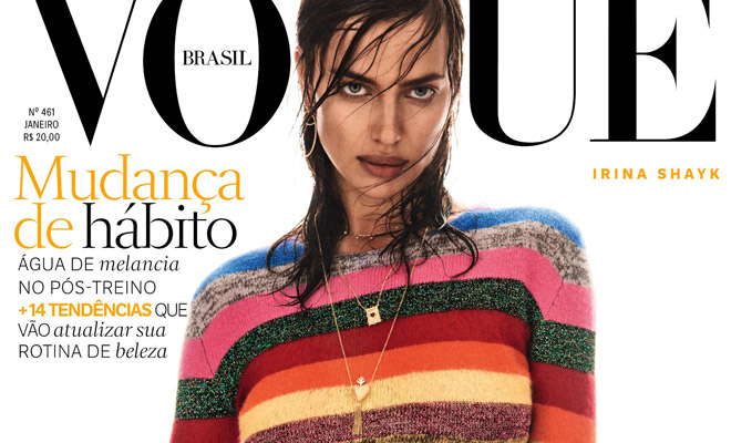 fdd25b21e560e Irina Shayk is the Cover Girl of Vogue Brazil January 2017 Issue