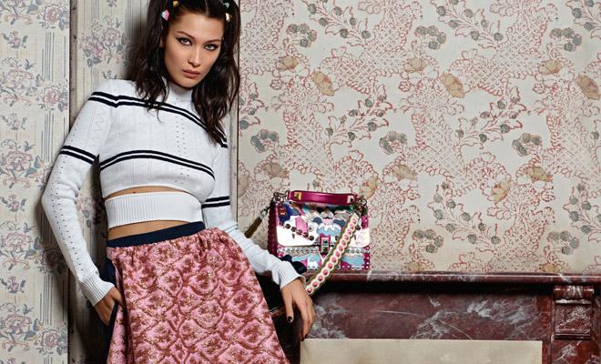 2816d4d4ee8 1ST LOOK  Bella   Gigi Hadid for Fendi Spring Summer 2017 Campaign