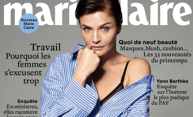 529dbc45325 Helena Christensen Stars in Marie Claire France March 2017 Cover Story