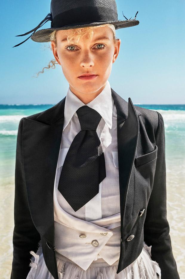 Patricia van der vliet stars in elle italia april 2017 for Elle italia