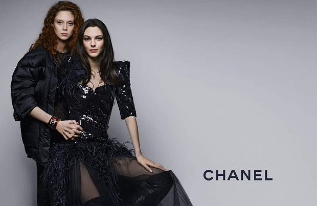 Vittoria Ceretti and girlfriend Natalie Westling on Chanel ad