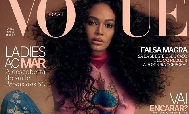 27b2f7289695e Supermodel Joan Smalls is the Cover Girl of Vogue Brazil June 2017 Issue