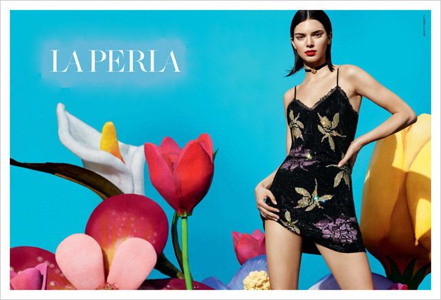 Kendall Jenner Models La Perla Fall Winter 2017.18 Collection