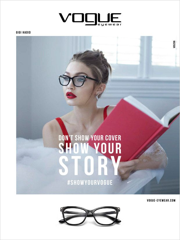 2524f28a52f Gigi Hadid is the Face of Vogue Eyewear Special Collection