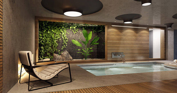 ideas for an indoor luxury spa room