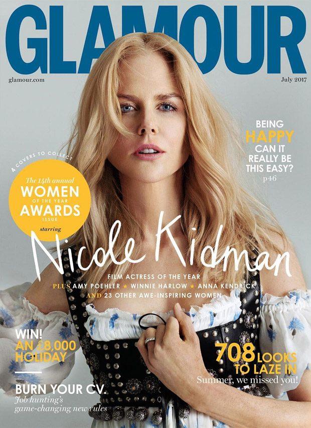 Nicole Kidman Amy Poehler Winnie Harlow James Corden Cover Glamour UK