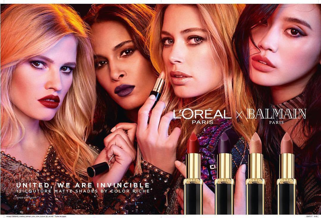 SUPERMODELS UNITE FOR L\'ORÉAL PARIS X BALMAIN Capsule Collection