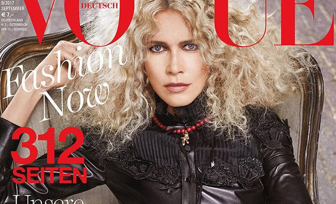 Claudia Schiffer Covers Vogue Germany September 2017 Issue