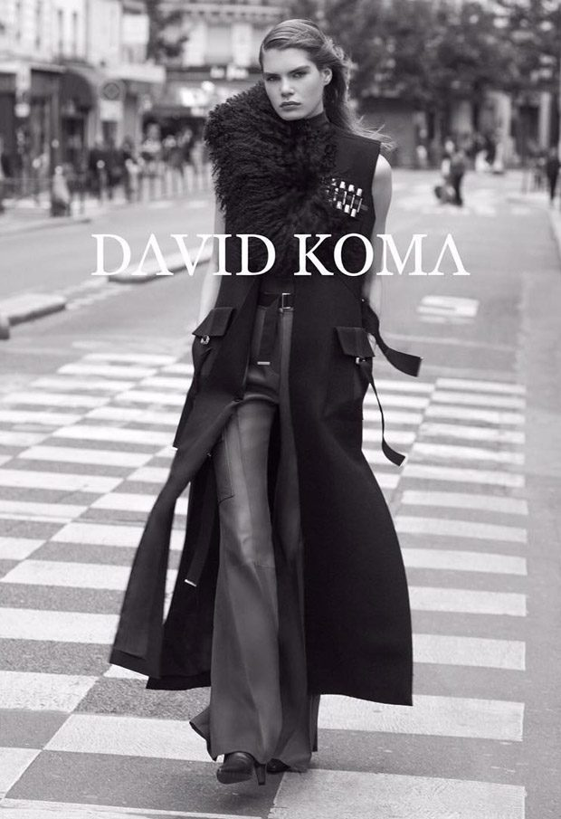 Sophie Rask Models David Koma Fall Winter 2017.18 Collection