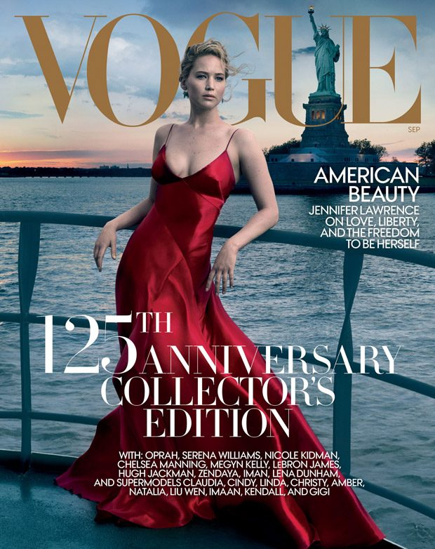 Jennifer Lawrence Stuns for the Cover Story of American Vogue September 2017 Issue