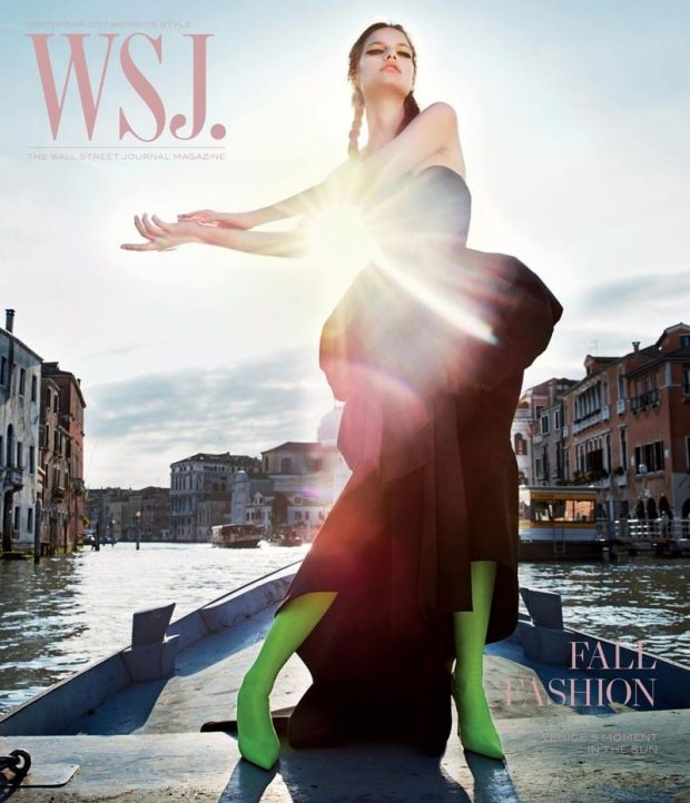 A Peak Inside of WSJ. September Issue Shot in Venice by Mario Sorrenti