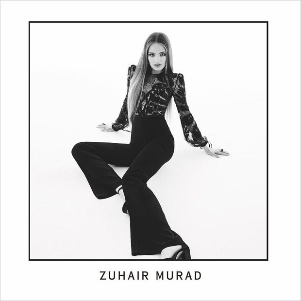 Anna Mila Guyenz Poses in Zuhair Murad Fall Winter 2017.18 Collection