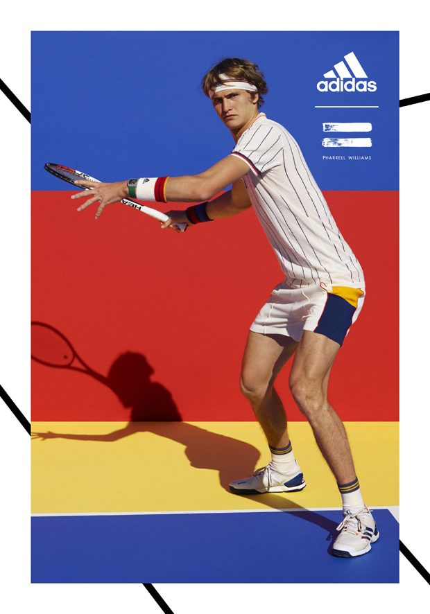 check out 10e02 c2d58 Adidas Tennis Collection by Pharrell Williams