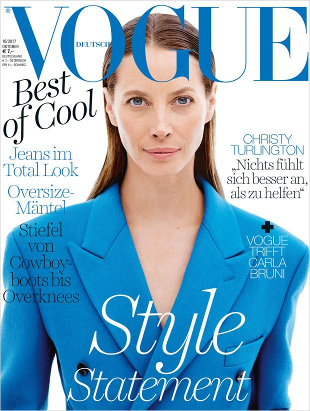 christy turlington is the cover star of vogue germany