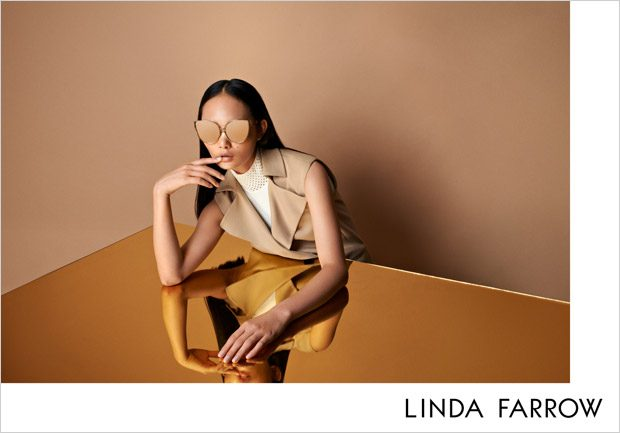Ling Ling & Yannik Abrath Model Linda Farrow Fall Winter 2017 Collection
