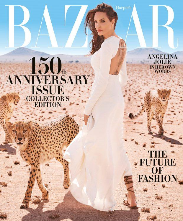Angelina Jolie Stars in Harper's Bazaar US November 2017 Cover Story